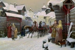 Городская улица XVII века (City street XVII century)