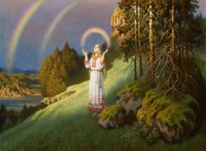 Волхова с радугой (Volkhov with rainbow)