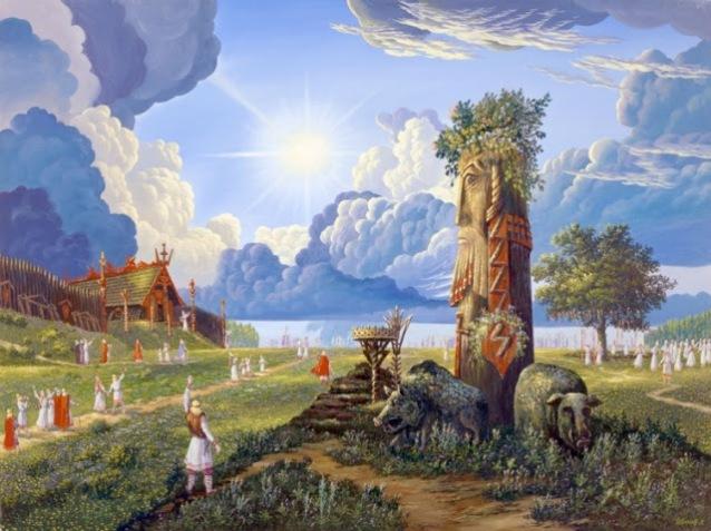 Прилет Перуна на Землю (Perun's arrival to earth)