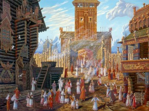 Храм Свентовида в Арконе (Temple of Sventovita in Arkona)